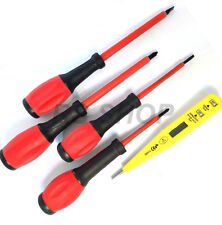 5 Piece 1000 Volts Insulated Magnetic Tip Screwdriver Set Digital Circuit Tester