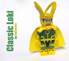 LEGO Custom - Classic Comics Loki -  Marvel Super heroes mini figure thor hulk