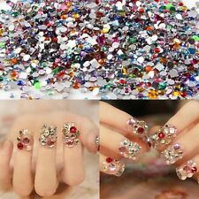 2000pcs Special Mixed Shape Gems Rhinestones Acrylic Flat Back Nail Decoration