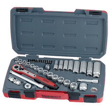 TENG FEBRUARY SALE 3/8 DRIVE SOCKET SET + BITS + RATCHET + EXTENSIONS 39pce