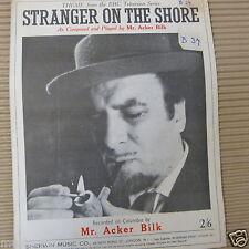 song sheet STRANGER ON THE SHORE Acker Bilk