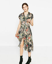ZARA NEW FLORAL PRINTED LONG SHIRT TUNIC DRESS SIZE M UK 10