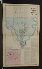 Michigan, St. Joseph County, 1872, Three Rivers, 1st Ward, Double Page Y9#10