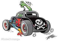 Skull Rod Sticker Decal Artist The Pizz P55 Roth Like