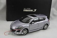 Dealer 1:18 New Mazda 3 Axela Hatchback 2009 Mk.2(Silver) Taiwan Exclusive Vers.