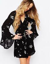 130810 New $148 Free People Jasmine Embroidered Black Tunic Dress X Small XS 0
