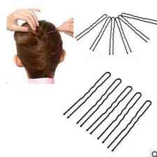 High Quality 50PCS U-shaped Bun Hair Pin Clip Grips Black Wavy Salon Hairpins