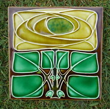 ANTIQUE ART NOUVEAU SECESSIONIST TILE RICHARDS c1906 Classic GLASGOW ROSE