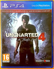 Uncharted 4 - A Thief's End - Playstation PS4 Games - Very Good Condition