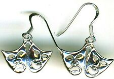 925 Sterling Silver Happy Sad / Comedy Tragedy Mask Earrings    Length 1.1/5""