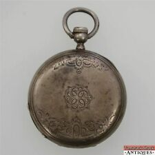 Antique Swiss Silver 51.5mm Hunters Pocket Watch Case 20 Lignes N G Mathey Locle