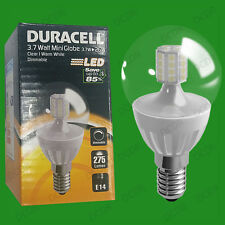 2x 3.7W Dimmable Duracell LED Clear Mini Globe Instant On Light Bulb SES E14
