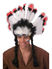 Western Native American Headdress Chief Indian Fancy Dress Costume Accessory New