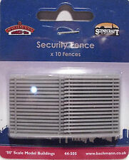 Bachmann 44-505 - 10 x Security Fencing Grey Plastic OO Gauge - Tracked 48 Post