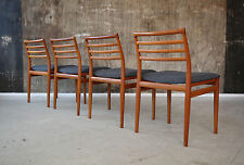 4 x 60er Erling TORVITS Teak ESSZIMMERSTÜHLE 60s DINING CHAIRS MID-CENTURY