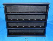 """24 Piece Shot Glass or Golf Ball Collection Wooden Display Rack Case 3"""" Shelves"""