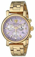 Versace Women's VLB100014 Day Glam Chronograph Gold IP Coated Steel Date Watch