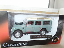 "Cararama CR038 1/43 O Scale Land Rover III 109"" Sage Green Cream Roof"