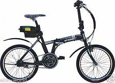 EBIC H520 BLACK MID-DRIVE ELECTRIC FOLDING BICYCLE(PEDAL ASSIST & FULL THROTTLE)