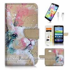 Samsung Galaxy S7 Flip Wallet Case Cover P3541 Rabbit