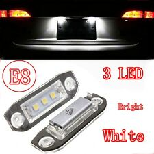 2x Rear LED Number License Plate Light Lamp For Volvo V50 V60 S40 XC60 NO ERROR