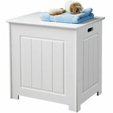 A Brand New White Wood Deluxe Laundry Storage Bathroom Furniture Unit