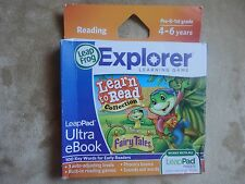 NEW Leapfrog Explorer Learn to Read FAIRY TALES LeapPad Ultra eBook Game