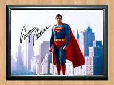 Christopher Reeve Superman Chris Reeves Signed Autographed A4 Poster Print Photo