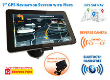 "7"" car GPS Navigation SAT NAV map system navigator + reverse camera + bluetooth"
