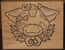 Darcie's Rubber Stamp - Christmas Cow
