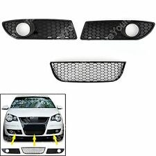 Frente Centrar Lower Bumper Niebla Luces Grille Para VW Polo 9N3 GTI 2005-2009