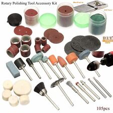DIY Crafts®Rotary Tool Kit For Polishing Crafting Hobby Drill Fits Dremel 105pch