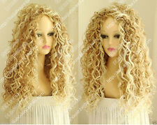 Women's New Long Mix Blonde Fashion Wig Sexy Curly Afro Cosplay Costume Wigs K70