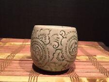 """Thai Porcelain Celadon Vintage Glazed Tea Cup Sage Green 2 5/8"""""""