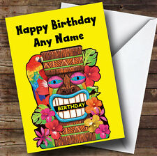 Tropical Hawaiian Luau Personalised Birthday Greetings Card