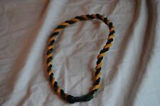 "18"" used Phiten Necklace Hunter Green Gold Yellow Baseball Twisted stained worn"
