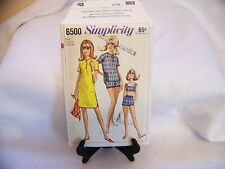 Vintage Simplicity Pattern 1960's  6500 JR/Misses Bathing Suit , Beach Shift 14