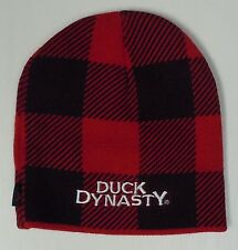 Men's Duck Dynasty Black Red Beanie Stocking Hat Cap NEW TV Show