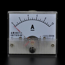 10A DC Ampere Analog Panel Meter with Shunt Resistor Insided Ammeter AMP 0-10ADC