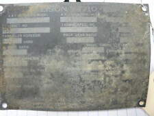 Allison V1710 ENGINE   WWII  ID PLATE   P38  P39  P40  P51