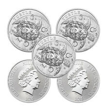 2015 2 oz New Zealand Silver $5 Niue Hawskbill Turtle Coin (Lot of 5)