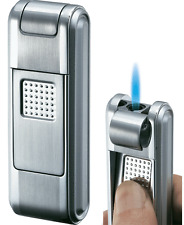 Visol Falcon Silver Satin Torch Flame Cigar Lighter, VLR-200701, New in Box