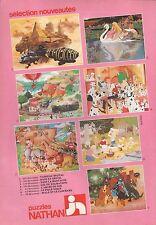 Publicité Puzzles NATHAN Walt Disney 101 Dalmatiens vintage toy ad  1981 - 1j