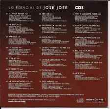 rare CD 70's 80's JOSE JOSE el amor acaba ME BASTA quiero morir en tu piel 40&20