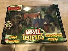 Marvel Legends Monsters Set Werewolf Dracula Zombie Frankenstein 4 Figures NEW