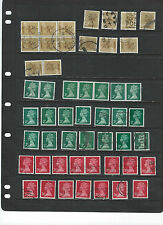 GREAT BRITAIN-MACHINS-USED-COLLECTION-SOME BETTER