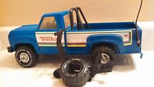 Vintage Blue Tonka Pressed Steel Truck XR-101 With Spare Tire & Jack
