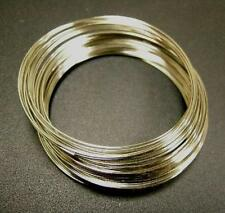 50 Circles Nickel look Stainless Steel Memory Wire 5cm-5094