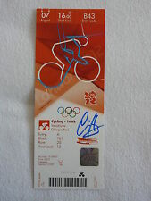 Official London 2012 Chris Hoy Signed Cycling Gold Keirin Ticket *Ltd 7 of 100*