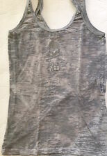 SOULCYCLE Burnout Tank Top Gray & Silver with Skull size L Cycle Spin Run  EUC